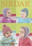 Sirdar 4771 Knitting Pattern Baby Hats in Sirdar Snuggly Rascal DK