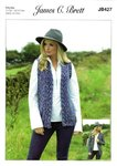 James C Brett JB427 Knitting Pattern Womens Cardigan and Waistcoat in Highlander Chunky