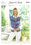 James C Brett JB436 Knitting Pattern Womens Waistcoat in James C Brett Marble Chunky