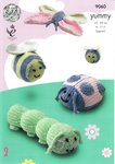 King Cole 9060 Knitting Pattern Bug Insect Toys  in King Cole Yummy Chunky