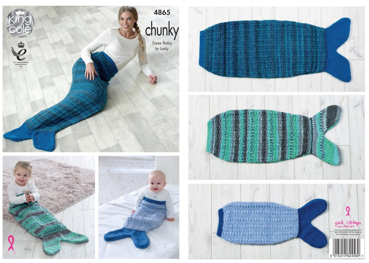King cole 4865 knitting pattern baby child adult mermaid tail king cole 4865 knitting pattern baby child adult mermaid tail blanket in king cole chunky bankloansurffo Image collections