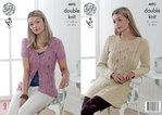 King Cole 4893 Knitting Pattern Womens Cardigan and Tunic in King Cole Authentic DK