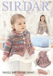 Sirdar 4793 Knitting Pattern Baby Girls Coat and Blanket in Sirdar Snuggly Baby Crofter Chunky