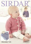 Sirdar 4814 Knitting Pattern Baby Childrens Cardigans and Blanket in Sirdar Snuggly DK