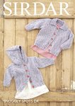 Sirdar 4812 Knitting Pattern Baby Childrens Cardigans in Sirdar Snuggly Spots DK