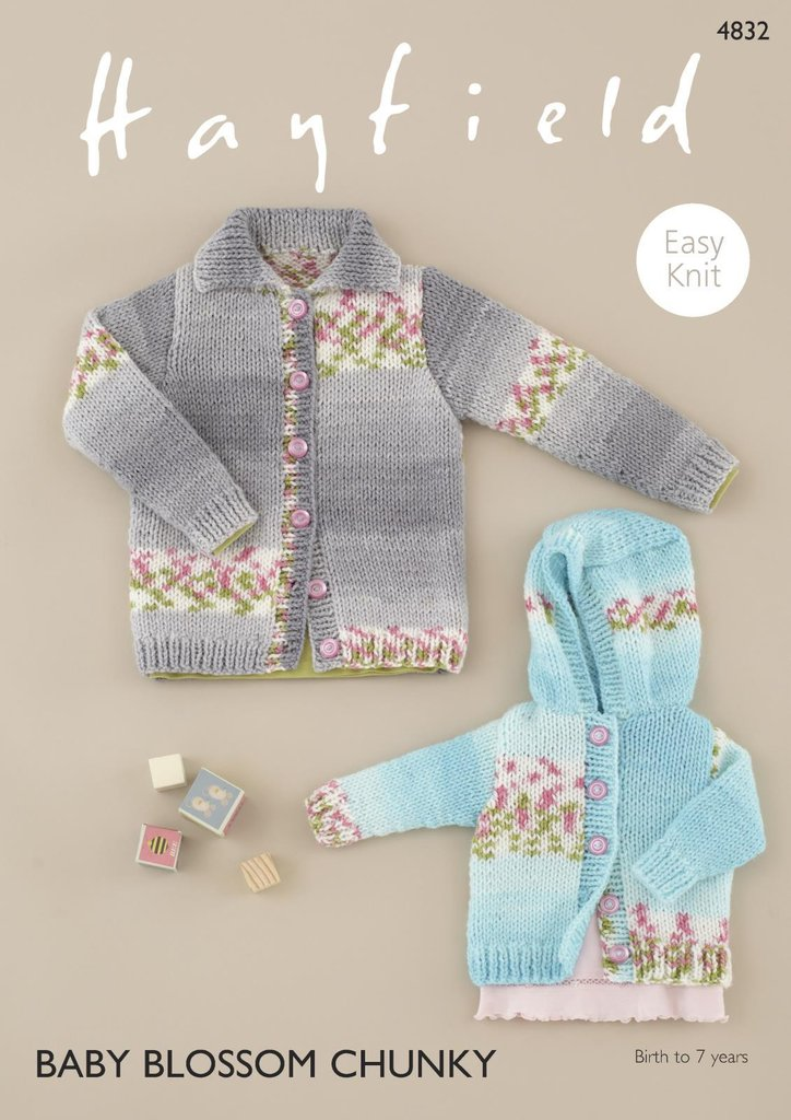 Sirdar 4832 Knitting Pattern Baby Childrens Easy Knit Cardigans in ...