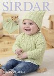 Sirdar 4829 Knitting Pattern Baby Sweater Hat and Blanket in Sirdar Supersoft Aran