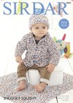 Sirdar 4850 Knitting Pattern Baby Easy Knit Jacket Hat and Blanket in Sirdar Snuggly Squishy