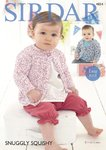 Sirdar 4854 Knitting Pattern Baby Easy Knit Cardigans in Sirdar Snuggly Squishy