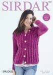 Sirdar 7997 Knitting Pattern Womens Jacket with a Collar in Sirdar Smudge