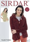 Sirdar 7999 Knitting Pattern Womens Hooded Jacket and Waistcoat in Sirdar Plushtweed