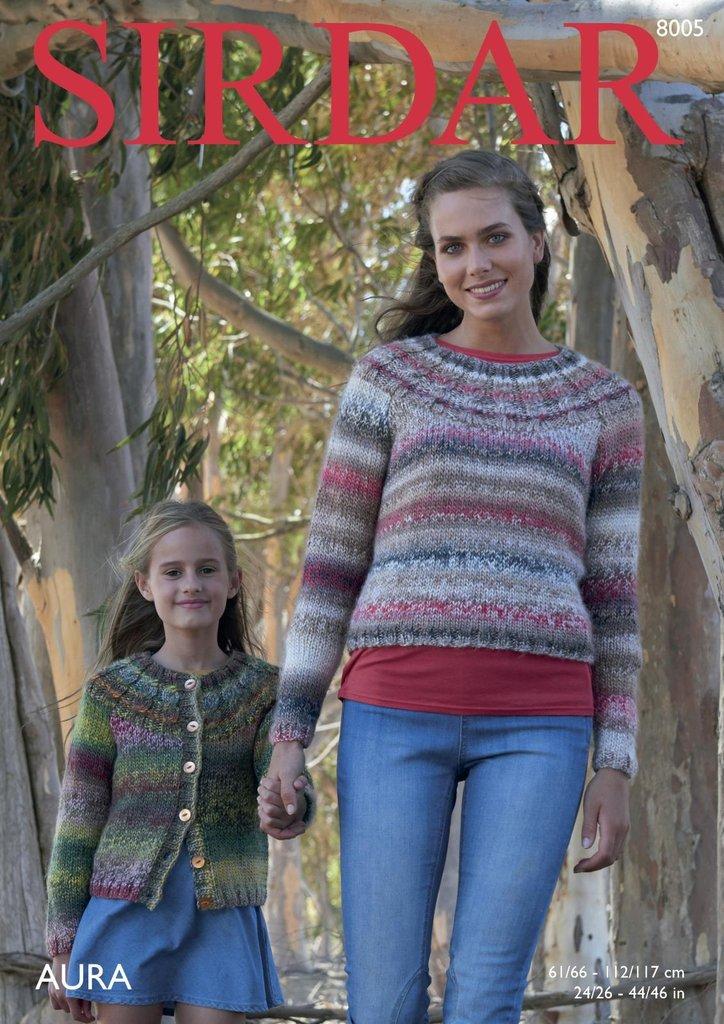 Sirdar 8005 Knitting Pattern Womens Girls Sweater And