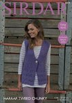 Sirdar 8014 Knitting Pattern Womens Easy Knit Waistcoat in Sirdar Harrap Tweed Chunky