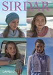 Sirdar 8065 Knitting Pattern Womens Snood Scarf Gloves and Hat in Sirdar Dapple DK