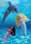 King Cole 9063 Knitting Pattern Mermaid & Dolphin Toys in King Cole DK