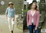 King Cole 4923 Knitting Pattern Womens Cardigan and Waistcoat in King Cole Majestic DK
