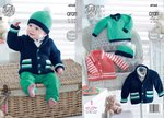 King Cole 4948 Knitting Pattern Baby Childrens Jackets Sweater and Hat in King Cole Comfort Aran