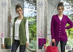 King Cole 5075 Knitting Pattern Womens Cabled Waistcoat and Cardigan in King Cole Merino Blend DK
