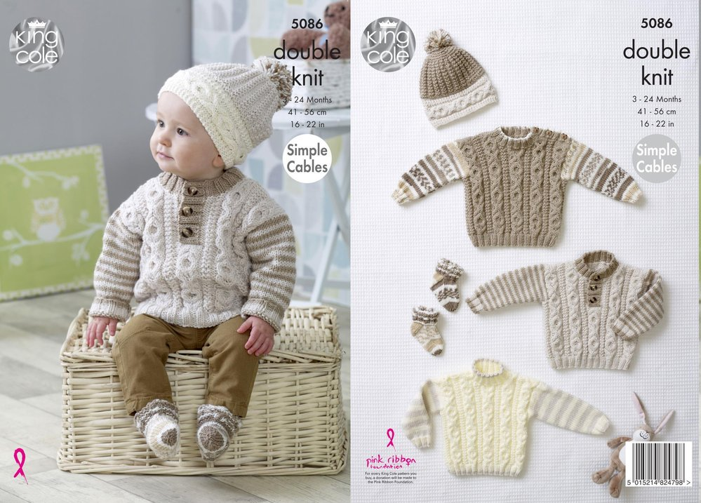 King cole 5086 knitting pattern baby sweaters hat and socks in king king cole 5086 knitting pattern baby sweaters hat and socks in king cole cherish cherished dt1010fo