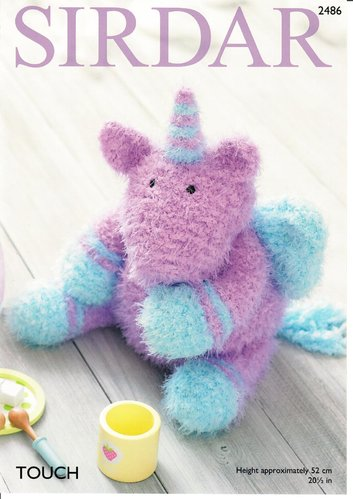 Sirdar 2486 Knitting Pattern Unicorn Soft Toy in Sirdar Touch