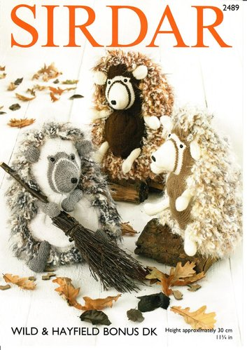 Sirdar 2489 Knitting Pattern Hedgehog Soft Toys in Sirdar Wild and Hayfield Bonus DK