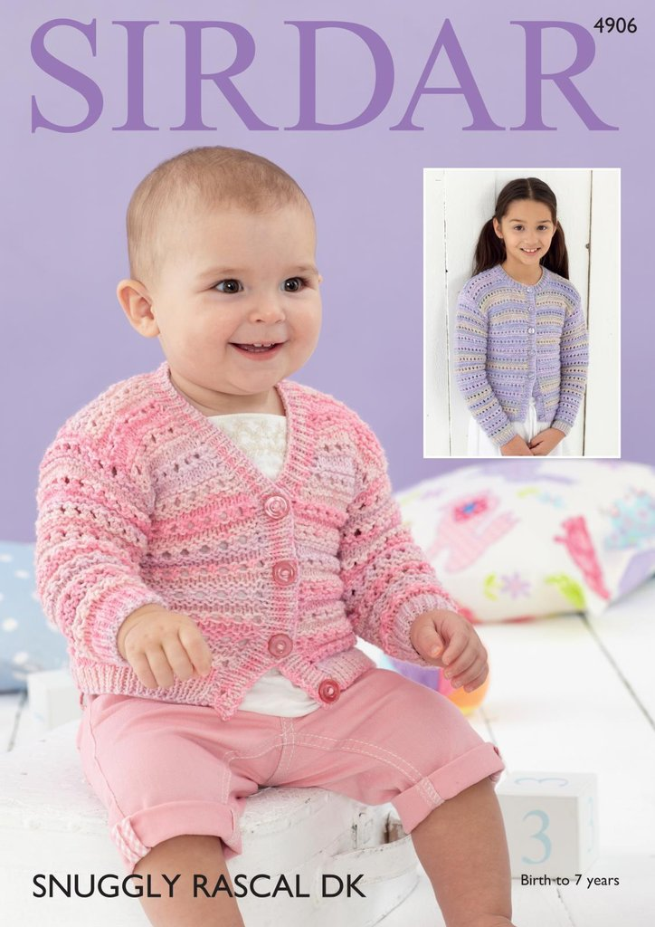 Sirdar 4906 Knitting Pattern Baby And Childrens Patterned Cardigans