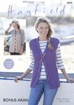 Sirdar 8099 Knitting Pattern Womens Cable Waistcoats in Hayfield Bonus Aran