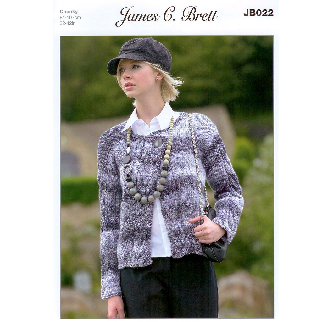 Buy Ladies Cardigan Jb022 Knitting Pattern James C Brett