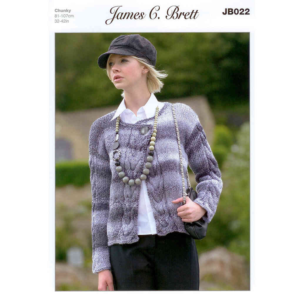 Buy Ladies Cardigan JB022 Knitting Pattern James C Brett Chunky