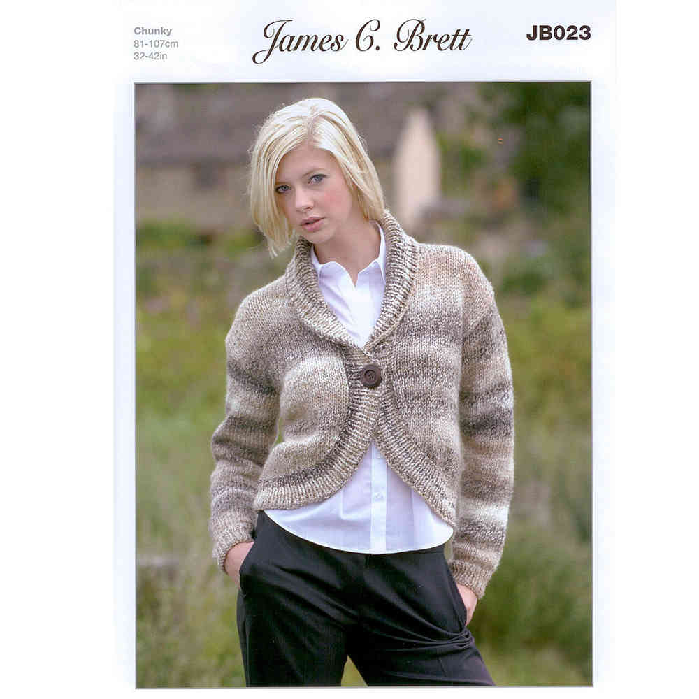 Buy Bolero JB023 Knitting Pattern James C Brett Marble Chunky