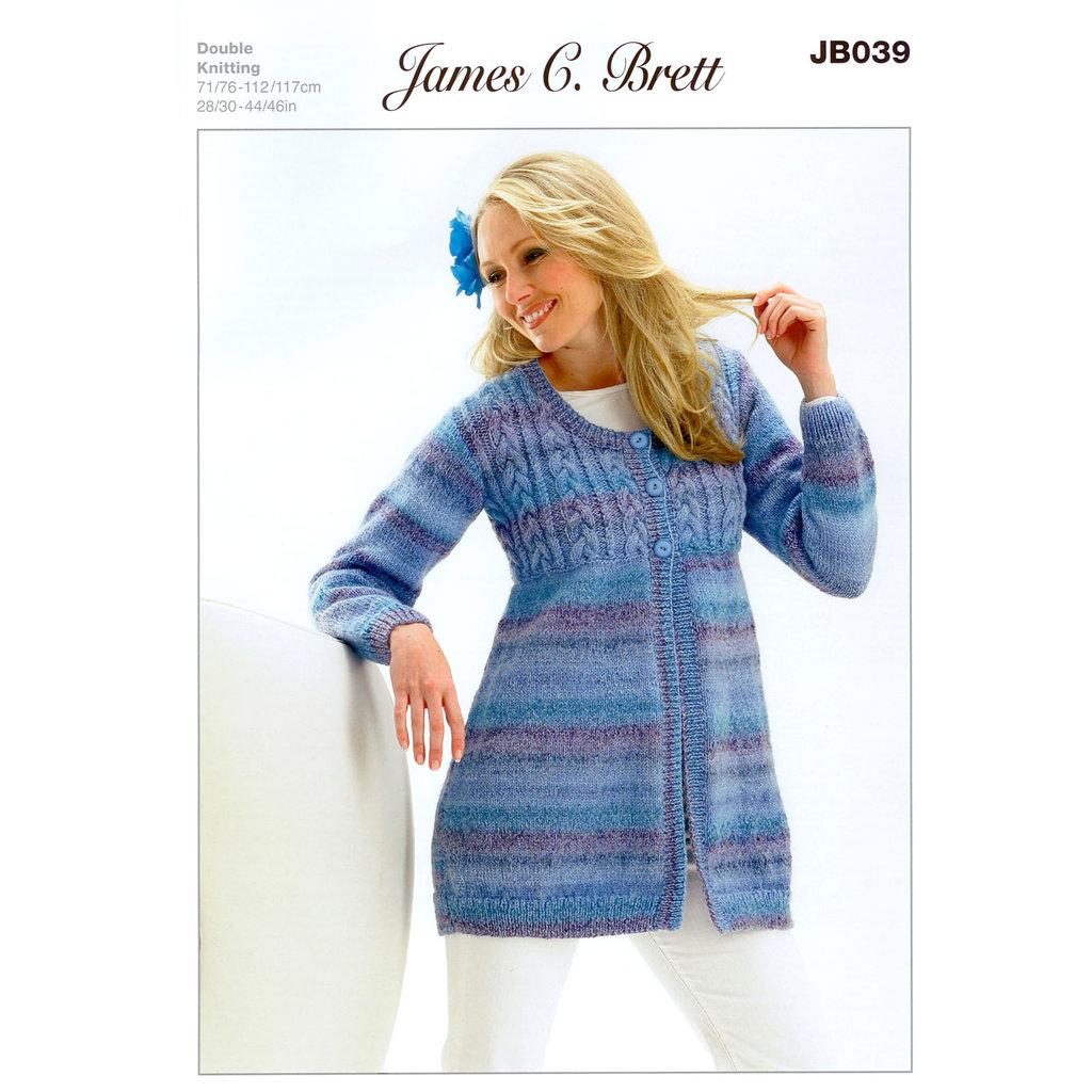 Buy Coat Jb039 Knitting Pattern James C Brett Marble Dk