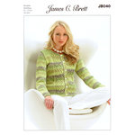 Ladies Cardigan JB040 Knitting Pattern James C Brett Marble DK