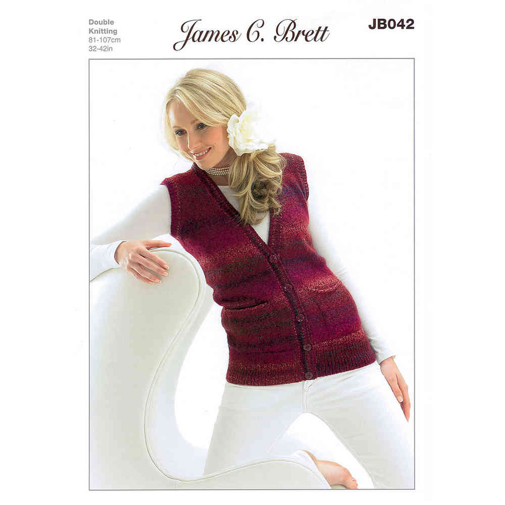 353d2a6de Buy Ladies Waistcoat JB042 Knitting Pattern James C Brett DK