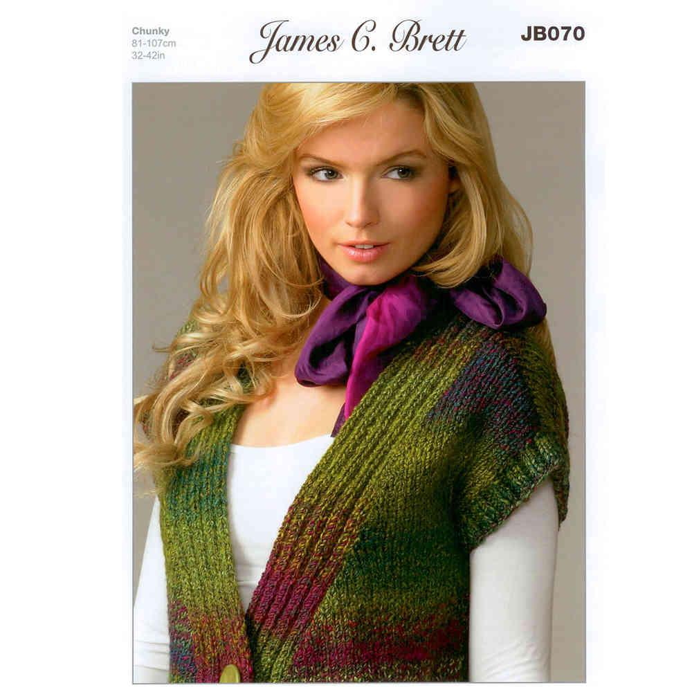 5450351f08a15 Buy Ladies Waistcoat JB070 Knitting Pattern James C Brett Chunky