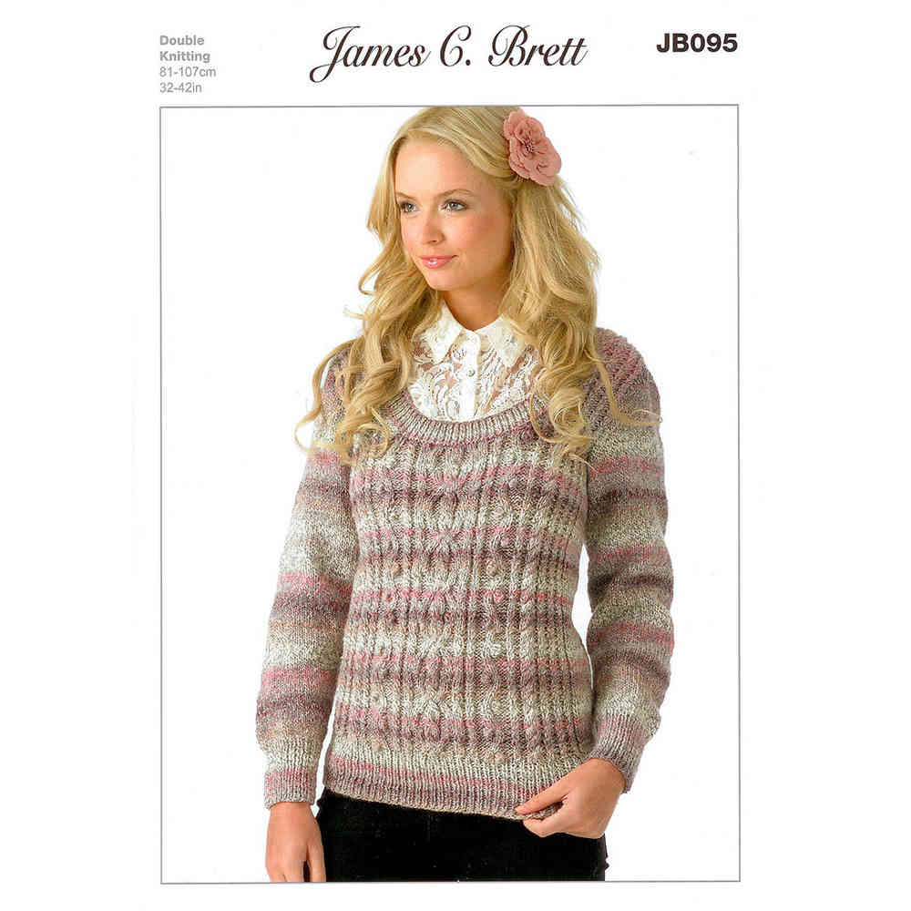 Crochet Pattern James C Brett JB370 Chunky Jumper