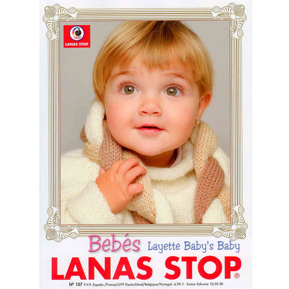 Buy Lanas Stop Baby Knitting Pattern Book 107 Online