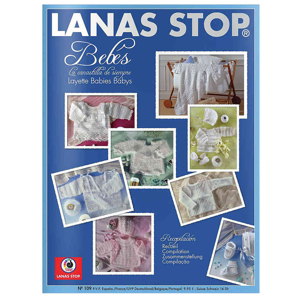 Buy Lanas Stop Baby Layette Knitting Pattern Book 109 Online