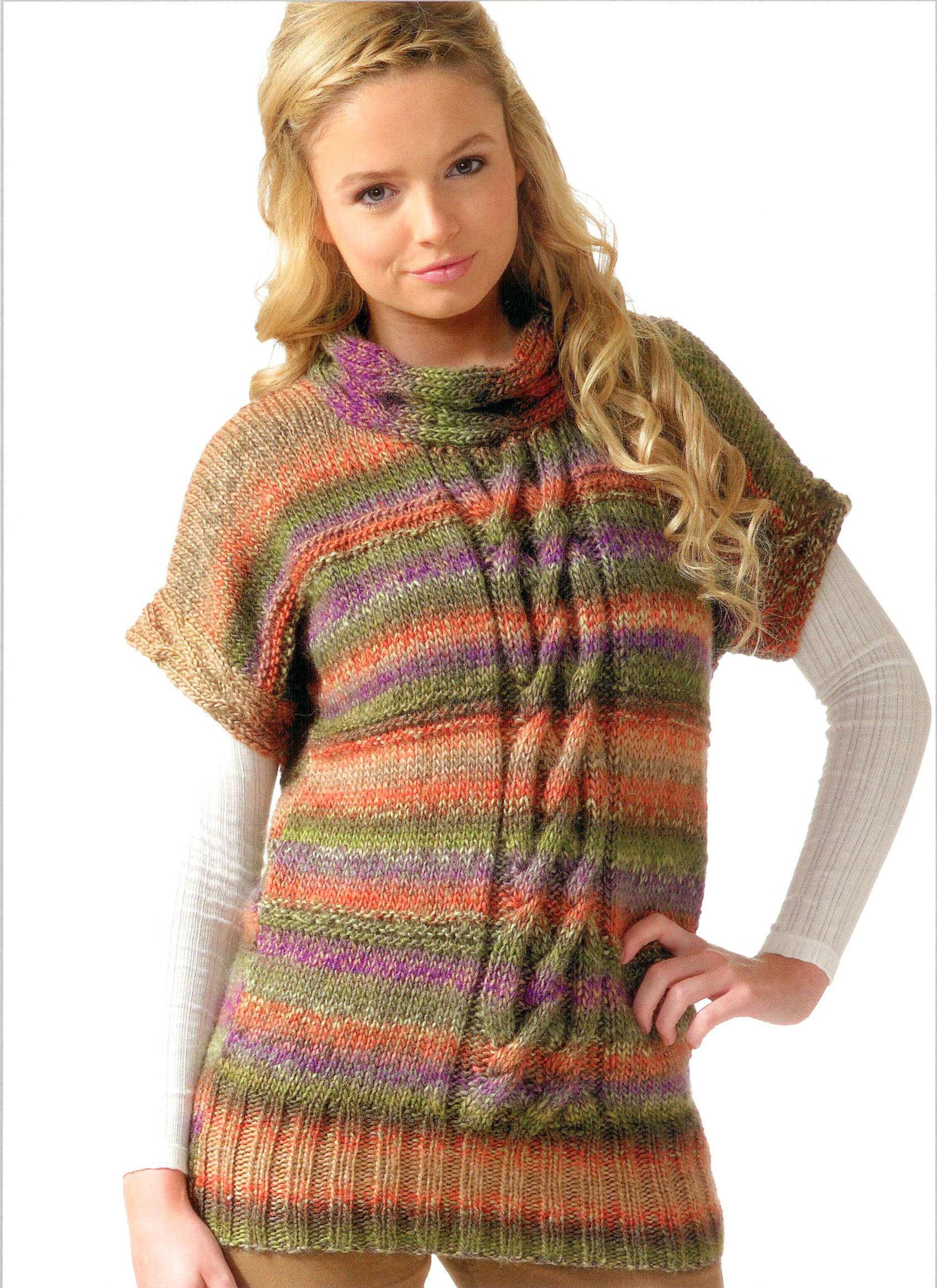 Ladies Short Sleeve Tunic Top JB091 Knitting Pattern - Athenbys
