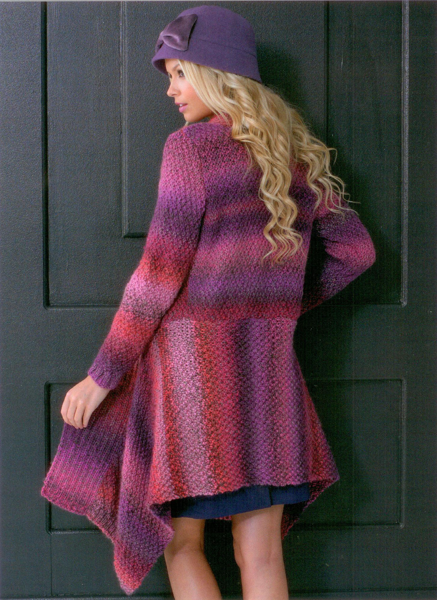 Ladies Waterfall-style Jacket JB145 Knitting Pattern at ...