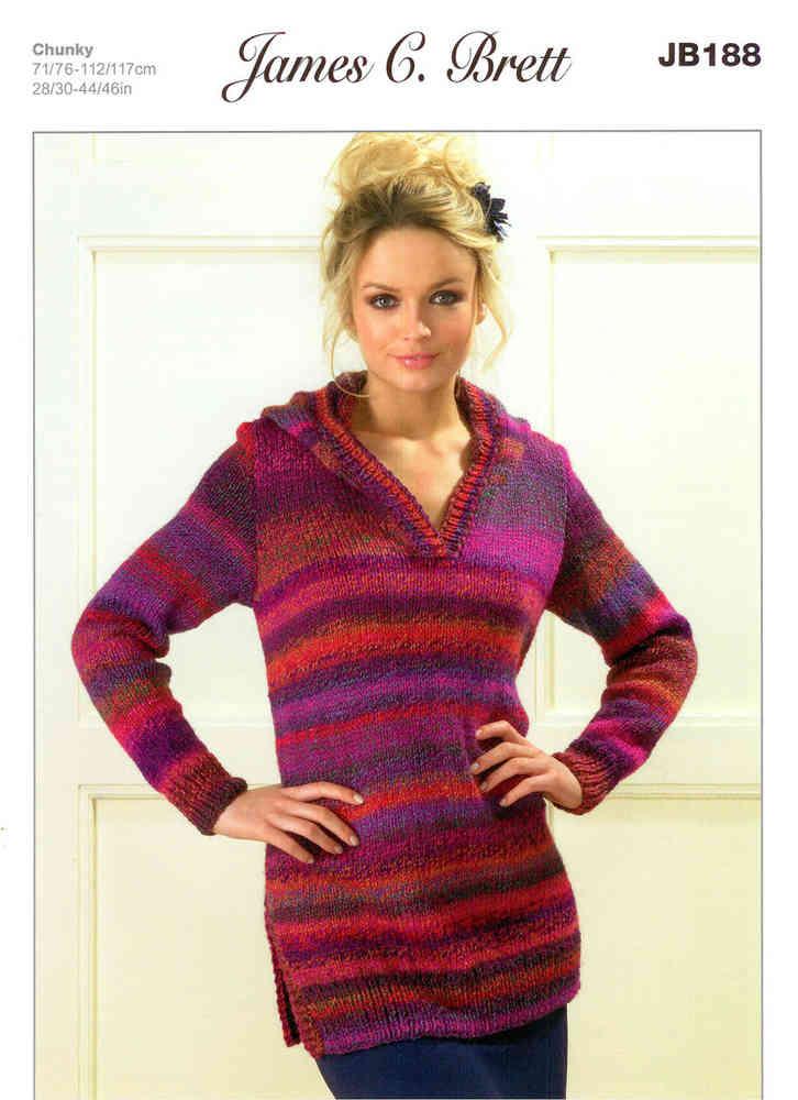 28e401d4d59e Ladies Sweaters JB188 Knitting Pattern James C Brett - Athenbys