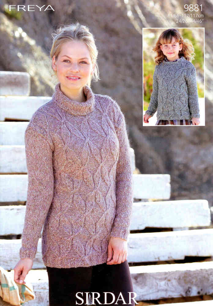 5c05c14323db34 Buy Sirdar Freya 9881 Knitting Pattern Sweater at Athenbys UK