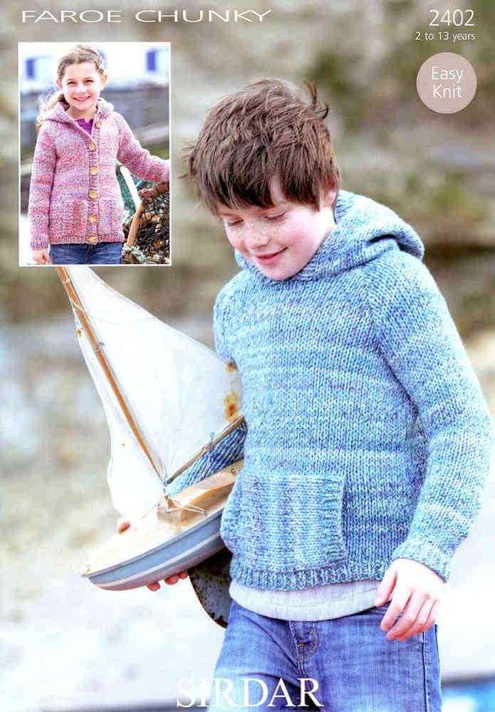 Sirdar Faroe Chunky 2402 Knitting Pattern Childs Sweater Uk