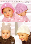 Sirdar Snuggly 4 Ply 1742 Knitting Pattern Hats