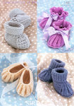 Sirdar Snuggly 4 Ply 1487 Knitting Pattern Shoes and Bootees