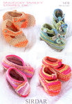 Sirdar Smiley Stripes 1478 Knitting Pattern Shoes