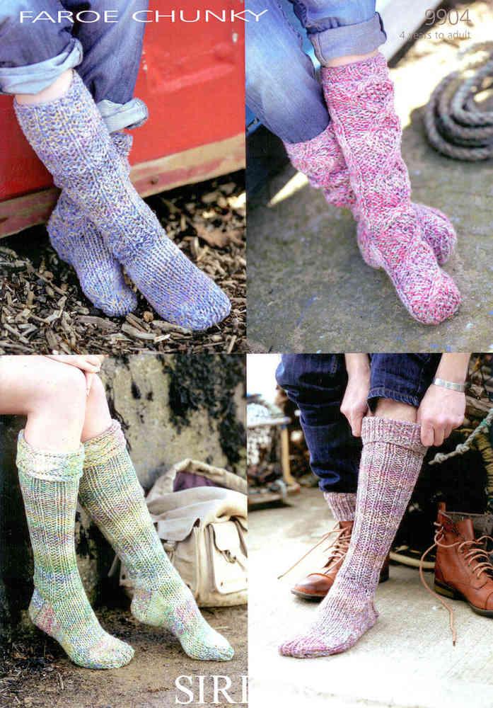 Sirdar Faroe Chunky 9904 Knitting Pattern Socks at Athenbys UK