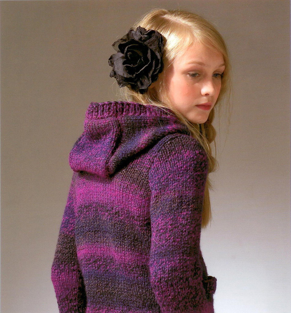 James C Brett JB049 Knitting Pattern Hooded Sweater UK