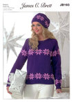 James C Brett JB193 DK Knitting Pattern Sweater And Hat