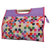 Button Print Knitting Storage Bag