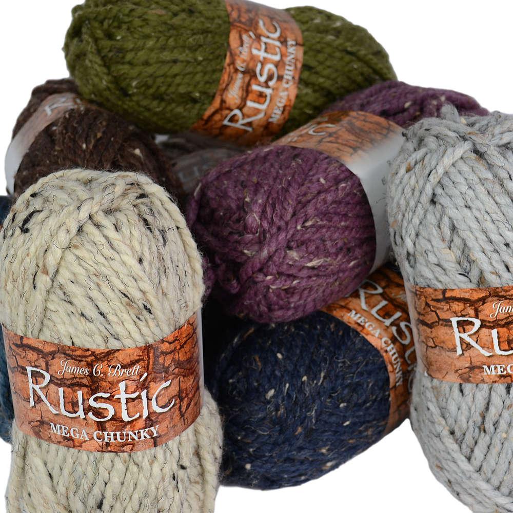 James C Brett Mega Multi Chunky Knitting Yarn Wool Chunky
